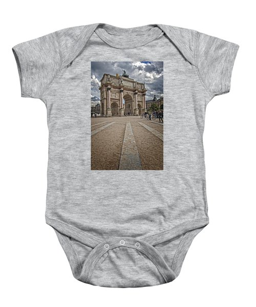 Arc De Triomphe Louvre  Baby Onesie