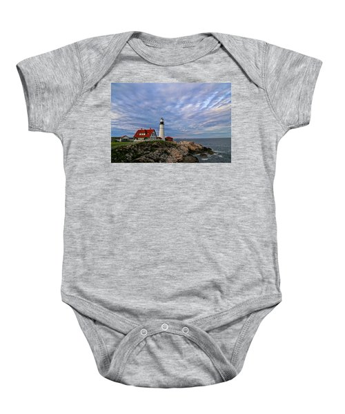 As The Sky Reaches The Water Baby Onesie