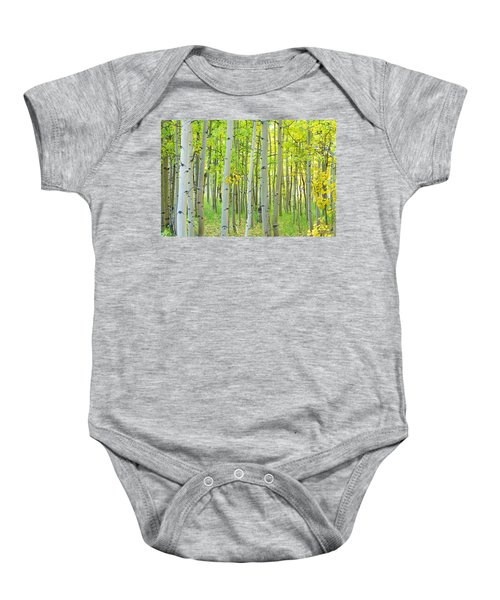 Aspen Tree Forest Autumn Time  Baby Onesie