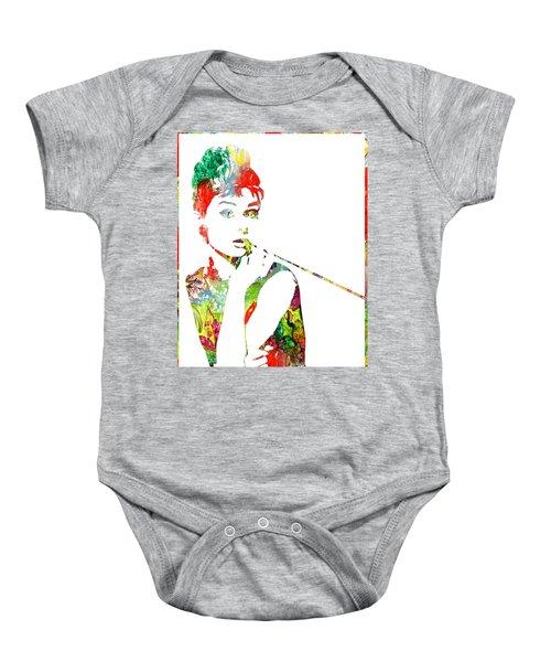 Audrey Hepburn - Watercolor Baby Onesie