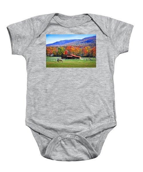 Autumn In Rural Virginia  Baby Onesie