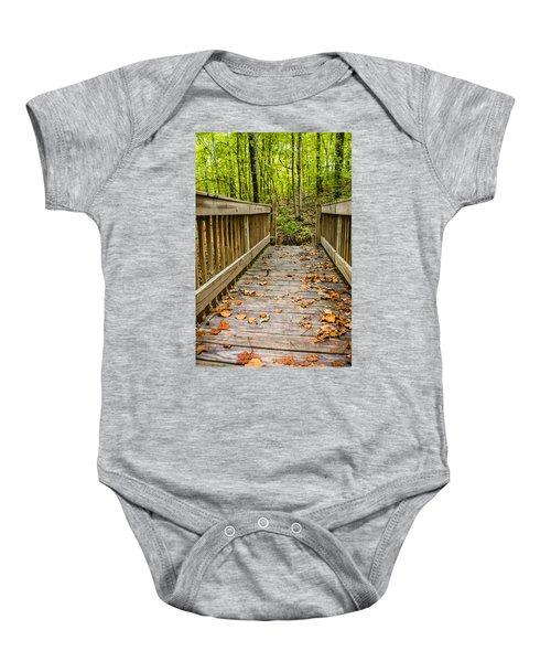 Autumn On The Bridge Baby Onesie