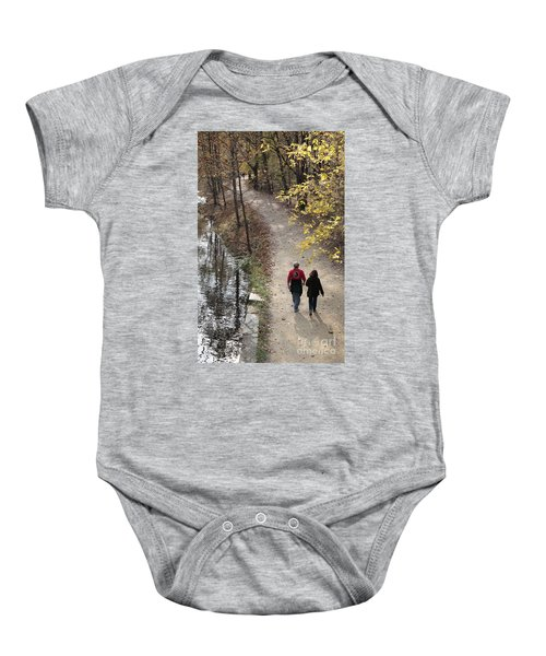 Autumn Walk On The C And O Canal Towpath Baby Onesie