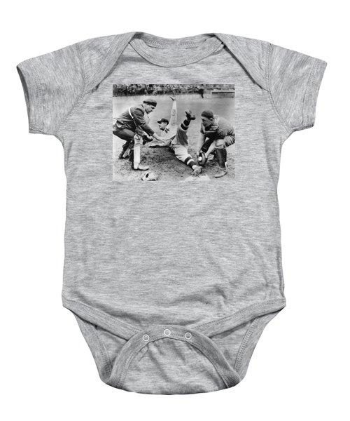 Babe Ruth Slides Home Baby Onesie