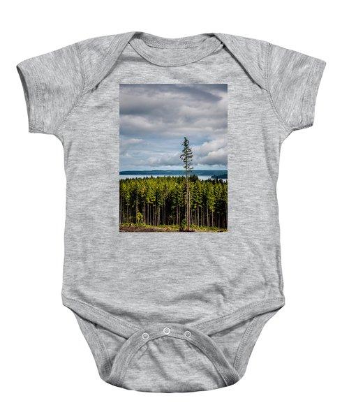 Logging Road Ocean View  Baby Onesie