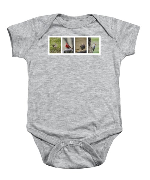 Backyard Bird Series Baby Onesie by Heather Applegate