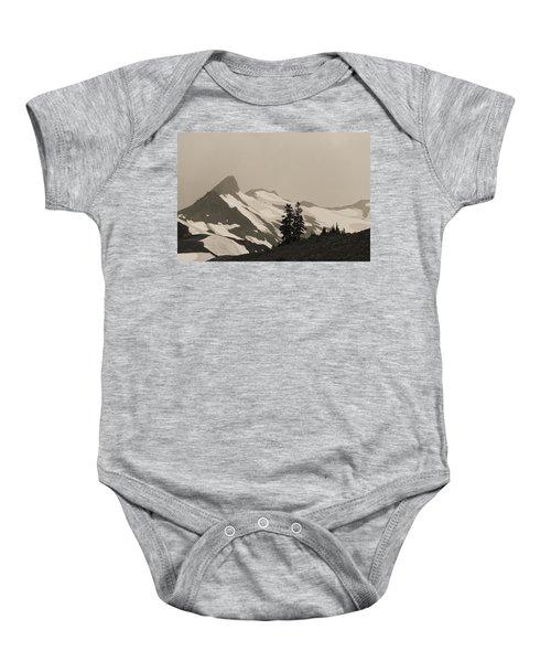 Fog In Mountains Baby Onesie by Yulia Kazansky
