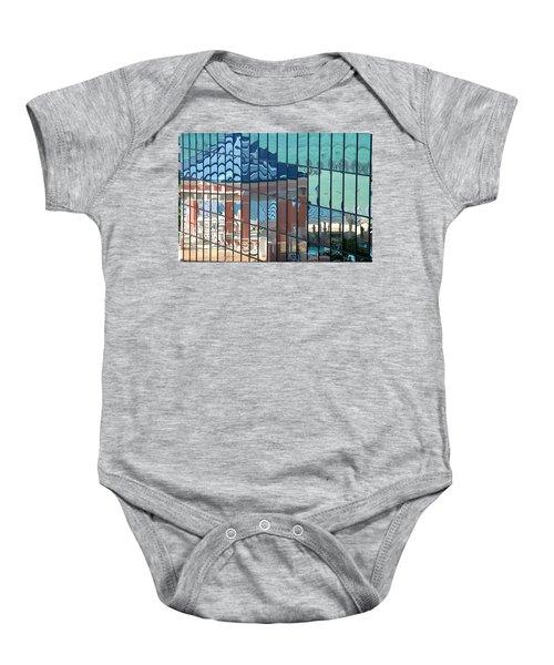 Bahamas Beach Pavilion Baby Onesie
