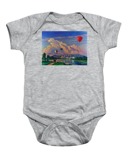 Ballooning On The Rio Grande Baby Onesie