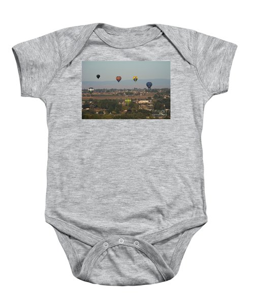 Balloons Over The Valley Baby Onesie