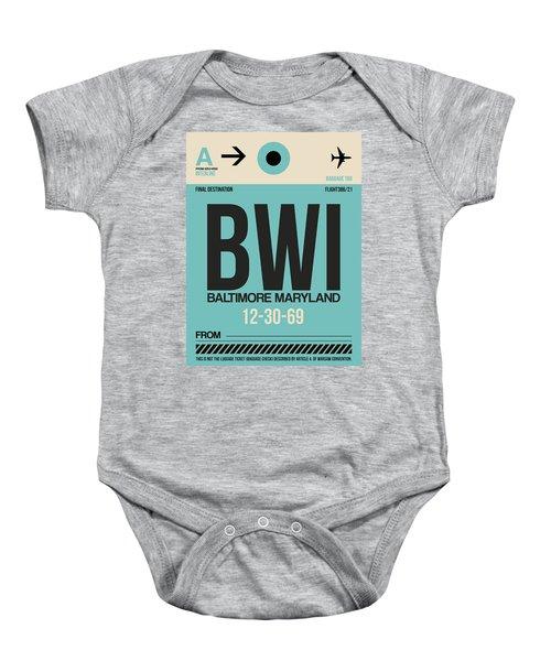 Baltimore Airport Poster 1 Baby Onesie