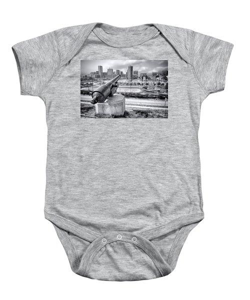 Baltimore Inner Harbor Skyline Baby Onesie