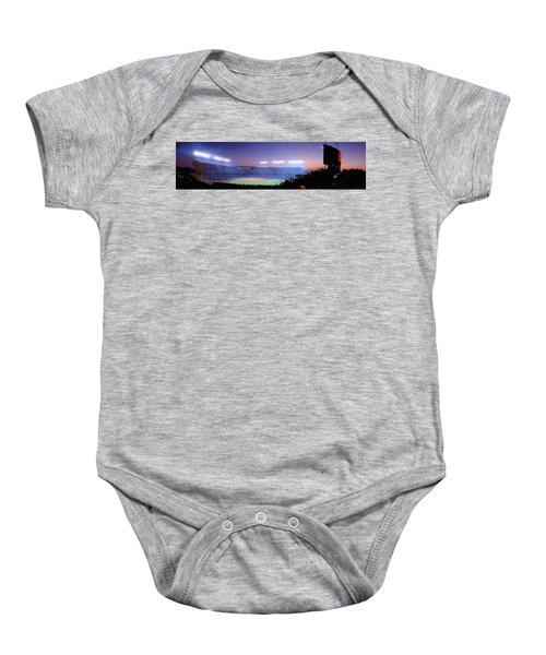 Baseball, Cubs, Chicago, Illinois, Usa Baby Onesie by Panoramic Images
