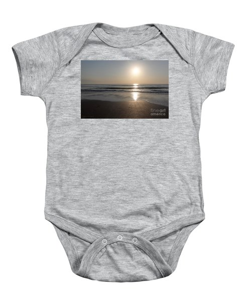 Beach At Sunrise Baby Onesie