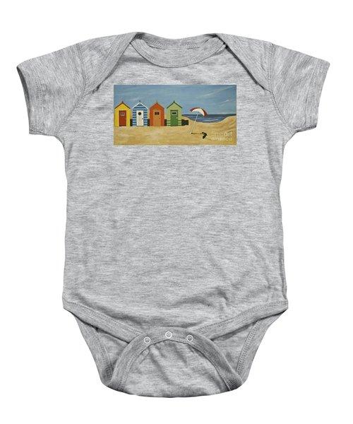 Beach Huts Baby Onesie