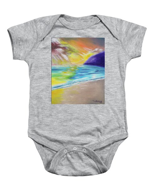 Beach Reflection Baby Onesie