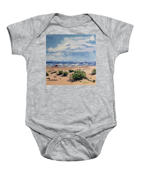Beach Scene On Galveston Island Baby Onesie