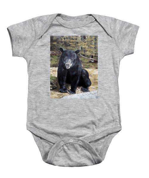 Bear - Wildlife Art - Ursus Americanus Baby Onesie