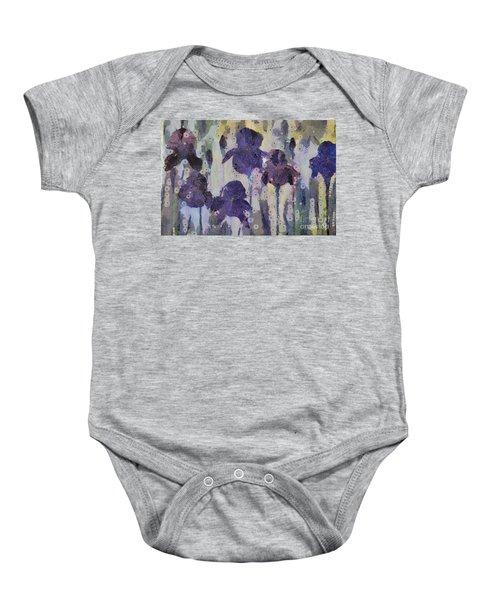 Bearded Irises Baby Onesie