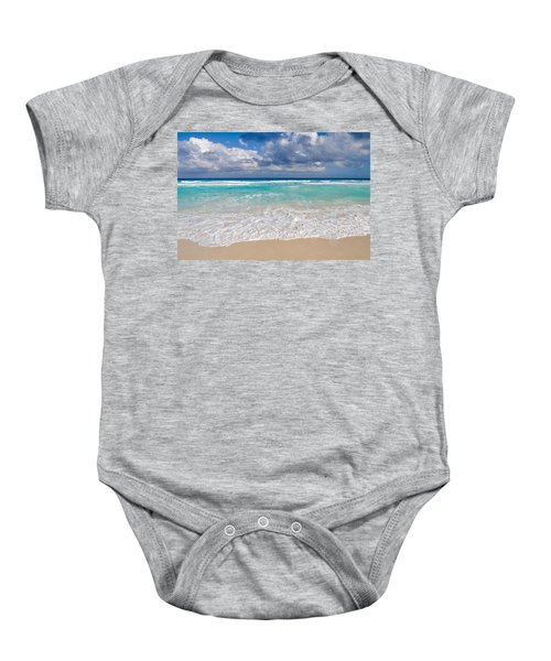 Beautiful Beach Ocean In Cancun Mexico Baby Onesie