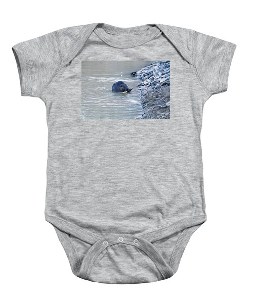 Beaver Chews On Stick Baby Onesie by Chris Flees