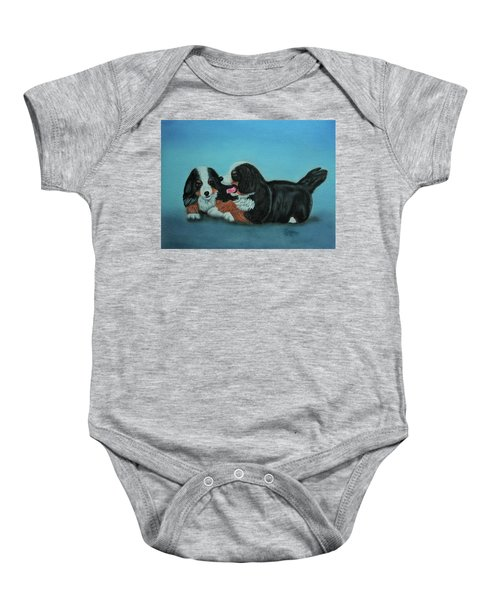 Bernese Mountain Puppies Baby Onesie