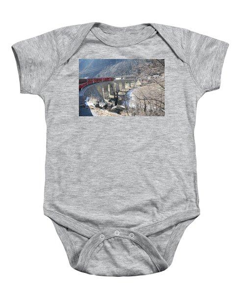 Bernina Express In Winter Baby Onesie
