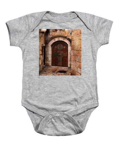 Door In Jerusalem Baby Onesie