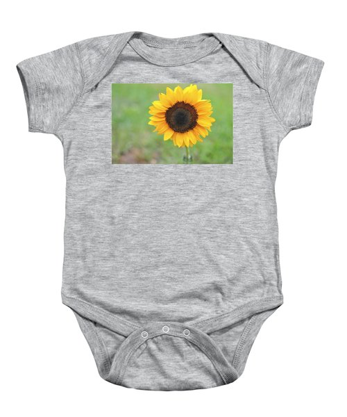 Big Bright Yellow Colorful Sunflower Art Print Baby Onesie