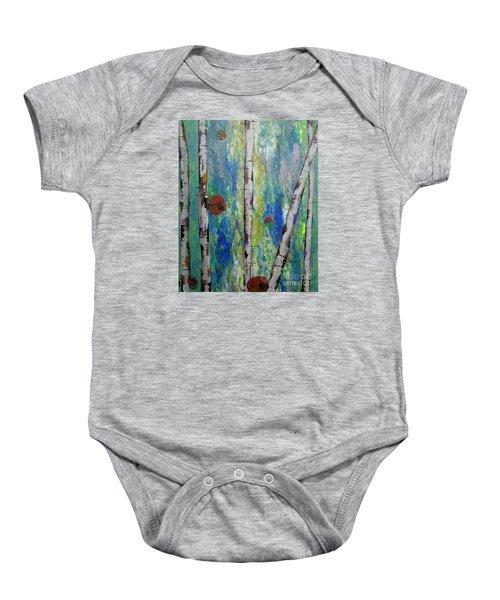 Birch - Lt. Green 4 Baby Onesie