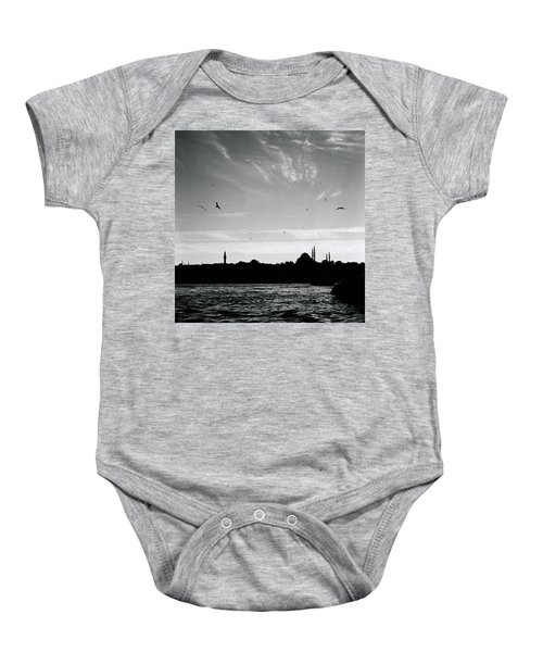 Birds Over The Golden Horn Baby Onesie
