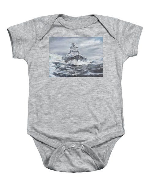 Bismarck Off Greenland Coast  Baby Onesie by Vincent Alexander Booth