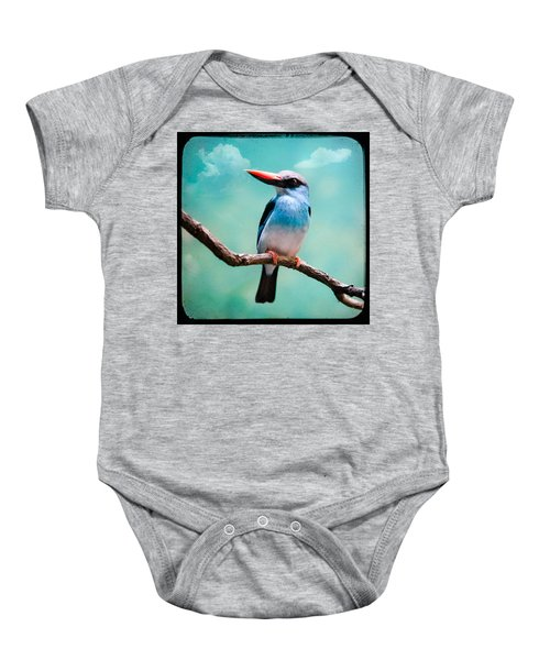 Blue Breasted Kingfisher Baby Onesie