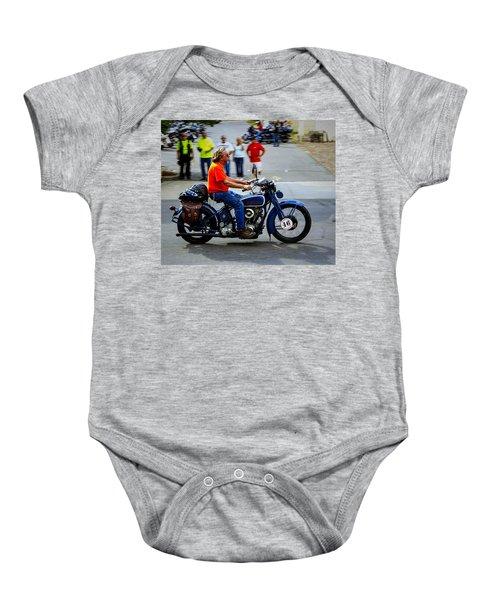Blue Harley 46 Baby Onesie