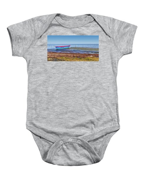 Boat At The Pond Baby Onesie