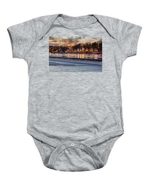 Boathouse Row Philadelphia Pa Baby Onesie