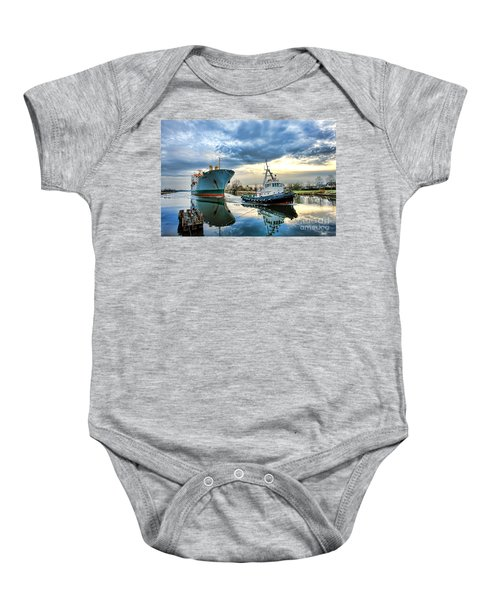 Boats On A Canal Baby Onesie