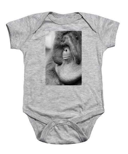 Bornean Orangutan V Baby Onesie by Lourry Legarde