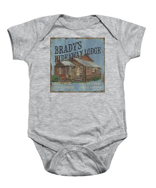 Brady's Hideaway Baby Onesie