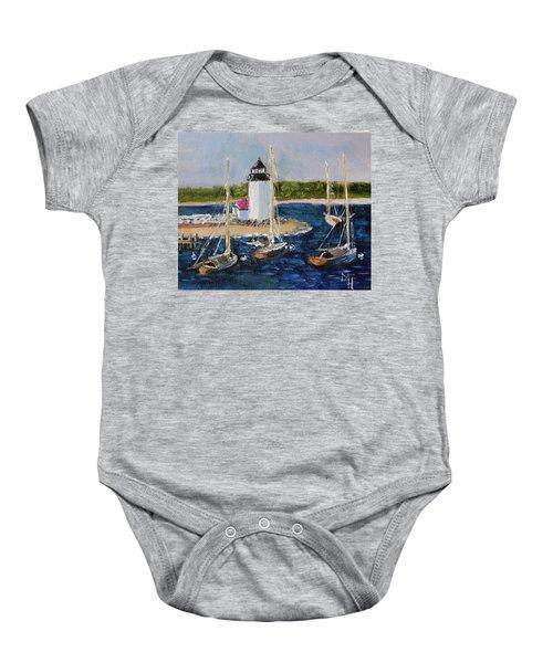 Brant Lighthouse Nantucket Baby Onesie