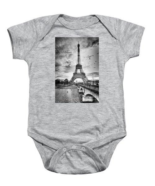 Bridge To The Eiffel Tower Baby Onesie