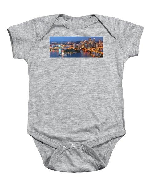 Bridge To The Pittsburgh Skyline Baby Onesie