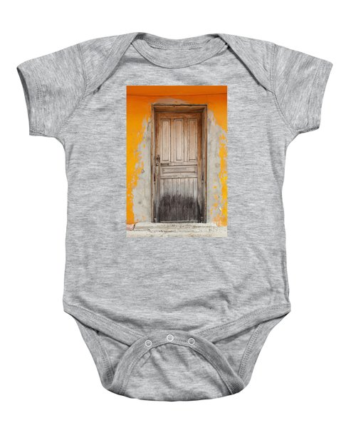 Brightly Colored Door And Wall Baby Onesie