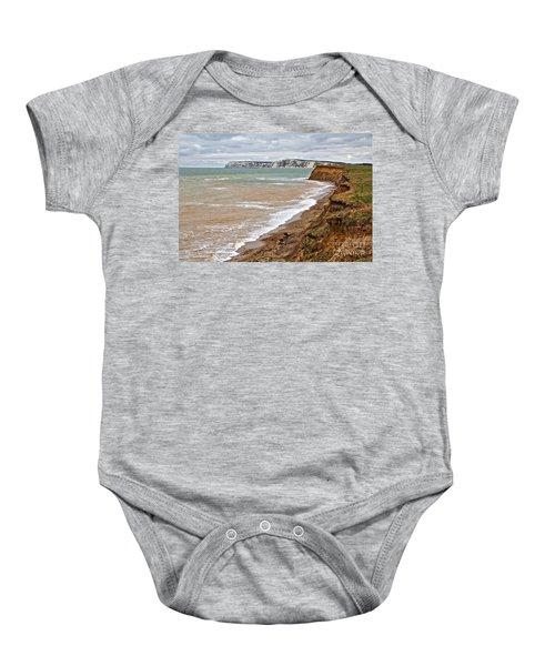 Brook Bay And Chalk Cliffs Baby Onesie