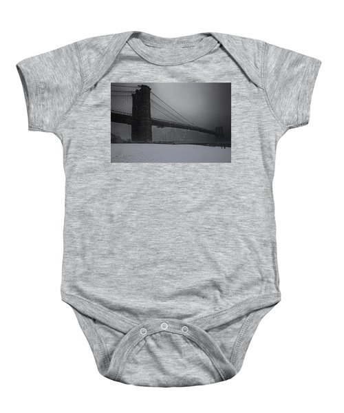 Brooklyn Bridge Blizzard Baby Onesie