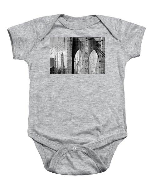 Brooklyn Bridge New York City Usa Baby Onesie