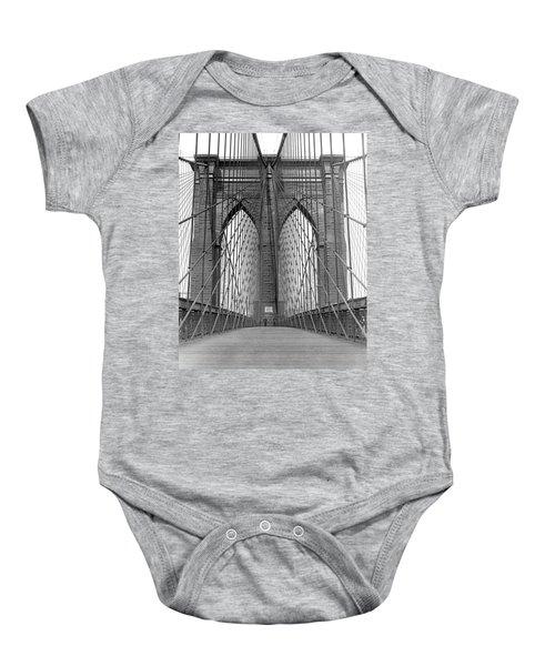 Brooklyn Bridge Promenade Baby Onesie