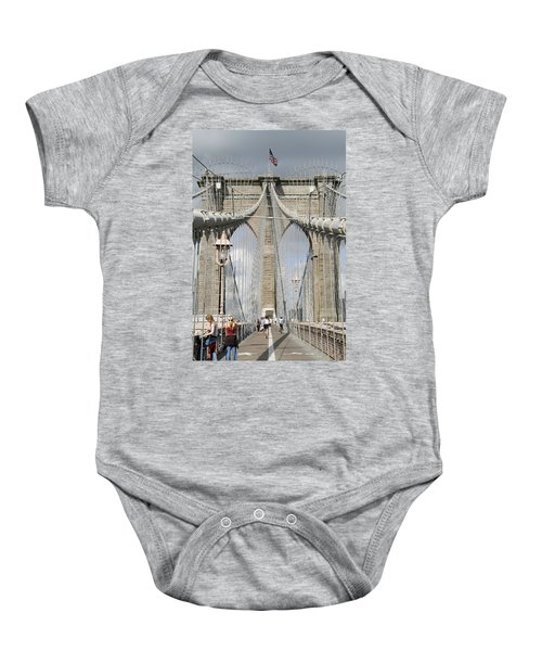 Brooklyn Bridge Baby Onesie