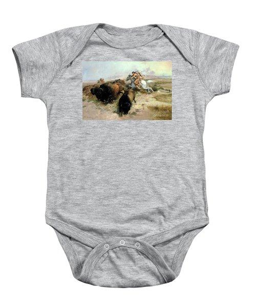 Buffalo Hunt Baby Onesie