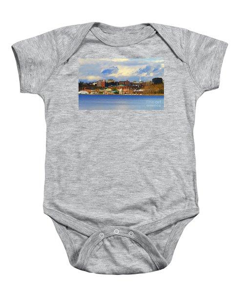 Burlington Vermont Lakefront Baby Onesie